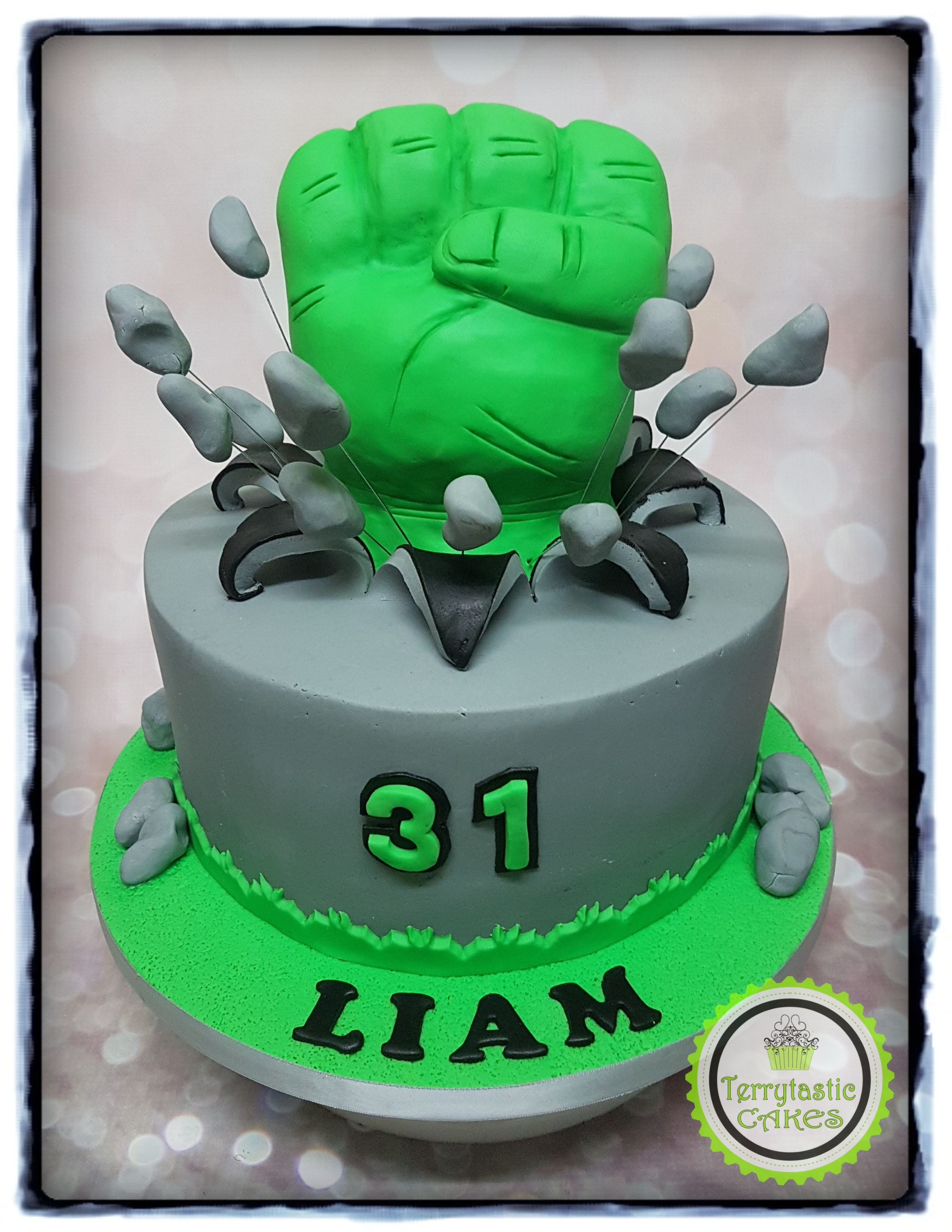 Swell Marvel Avengers Hulk Fist Cake Terrytastic Cakes Funny Birthday Cards Online Alyptdamsfinfo
