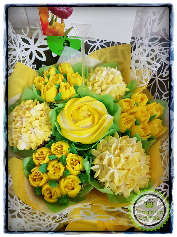 Yellow Cupcake Bouquet Jpg Terrytastic Cakes