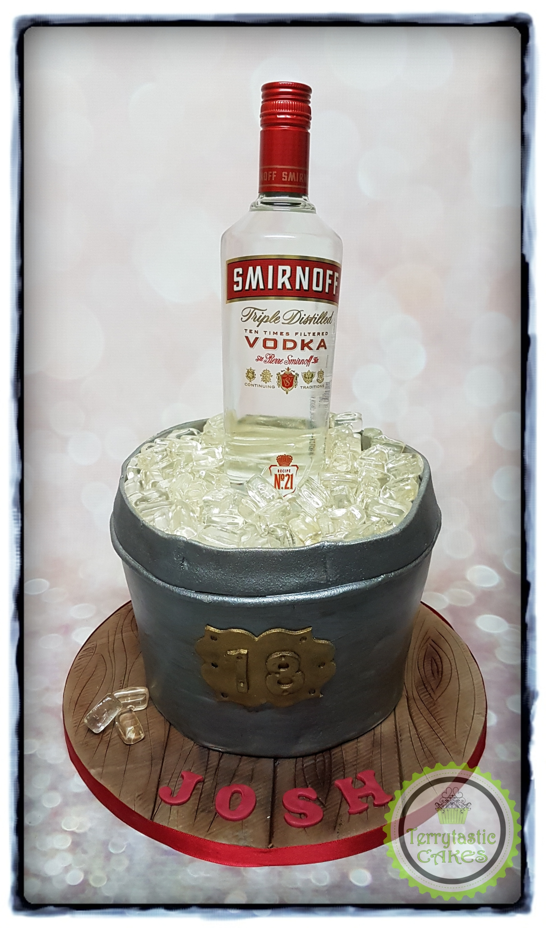 Enjoyable Vodka Bucket 18Th Cake Terrytastic Cakes Funny Birthday Cards Online Alyptdamsfinfo