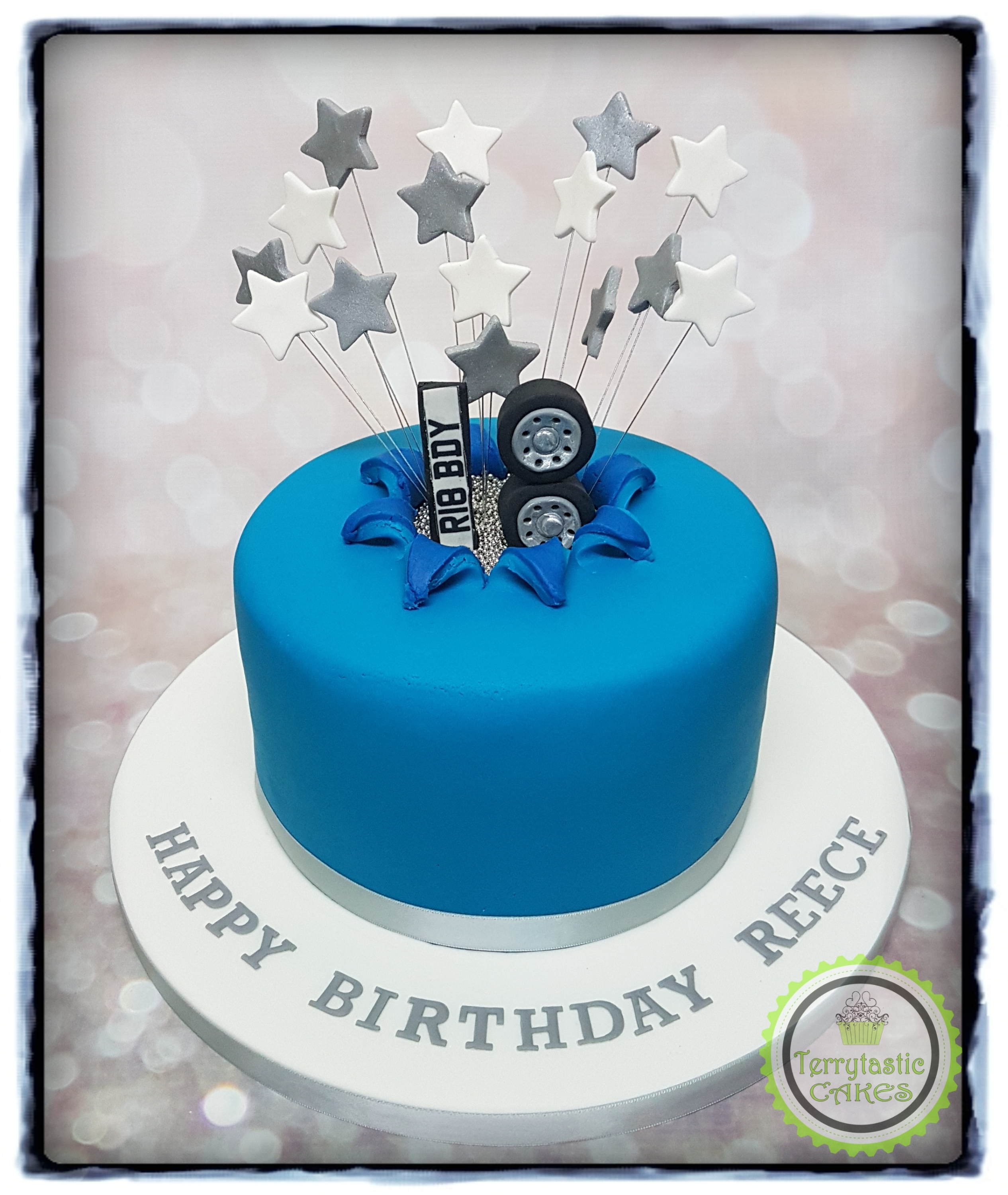 Car,star,burst,18th,cake \u2013 Terrytastic Cakes